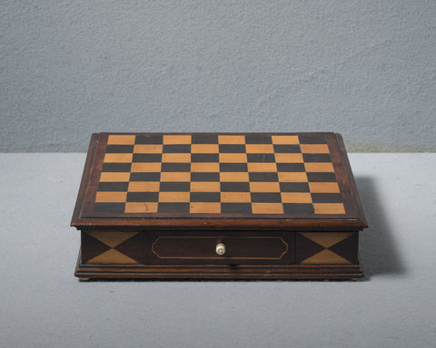 Mahogany & Ebony Chess Board, circa 1830