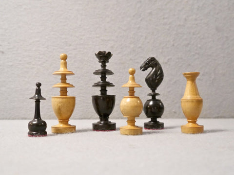 "French ""D'Alembert"" Chess Set, 19th century"