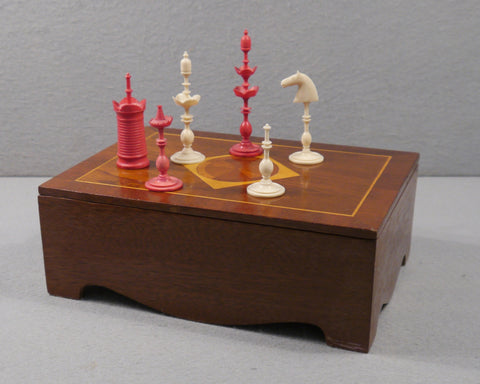 Danish bone chess set, circa 1790