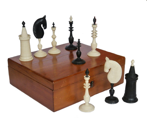 Antique Bone Chess Set for Sale