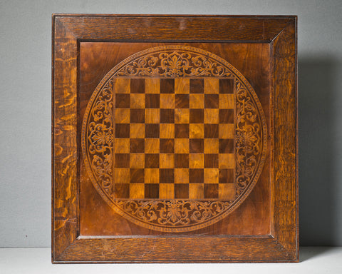 A Large Decorative Chess Board, circa 1900