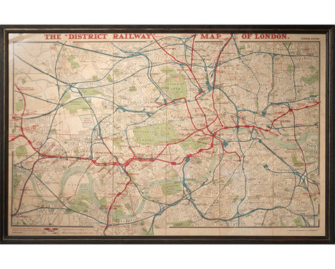 District Railway Map of London, 1908