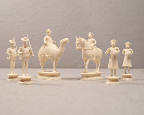 "Collection of East India ""John Co."" Chessmen"