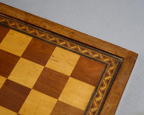 English Mahogany Chess Board, 19th century