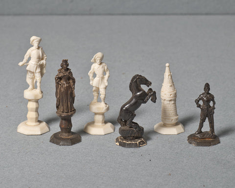 An Erbach Ivory Chess Set, circa 1925