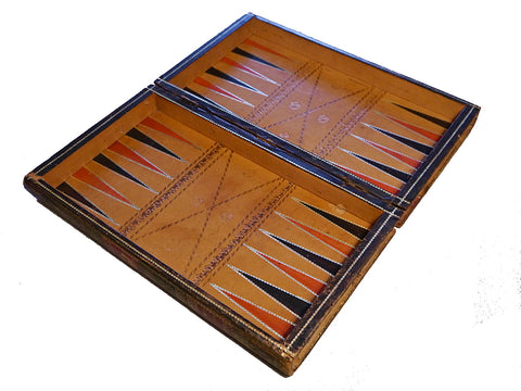 "Edwardian Leather ""English Games"" Board"
