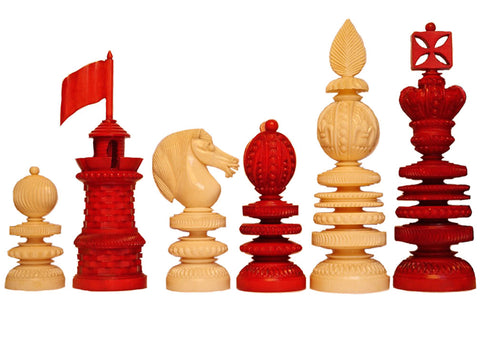 Magnificent Turned Chess Set, circa 1850