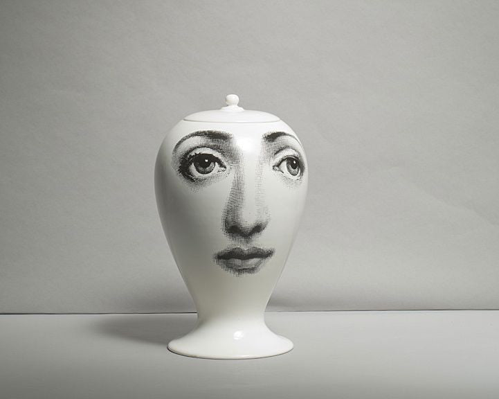 A Piero Fornasetti Vase By Bitossi Luke Honey Decorative