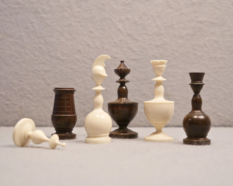 "French ""Cuirassier"" Chess Set, circa 1800"