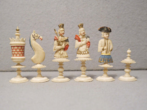 Geislingen Bone Chess Set, 18th century