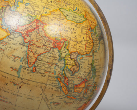 A Geographia 10 inch Table Globe, 1947