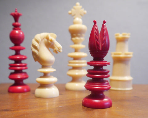 "Fine English ""Merrifield"" Chess Set, 1819-1852"