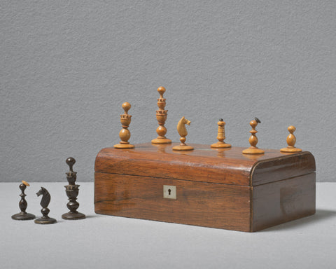 Biedermeier Chess Set, 19th century