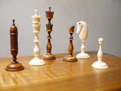 German Bone Selenus Chess Set, 18th century