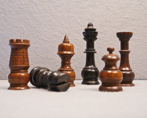 "German ""Spiked Helmet"" Chess Set, circa 1870"