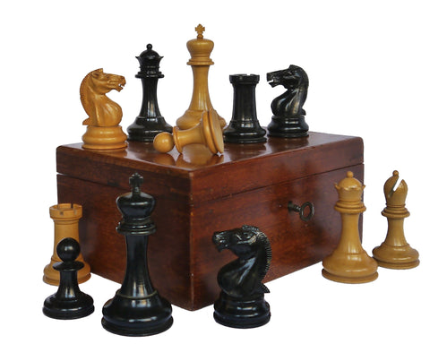 Antique Staunton Chess Set