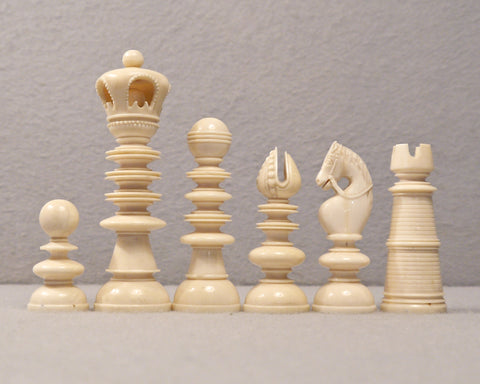 English Ivory Chess Set, circa 1800
