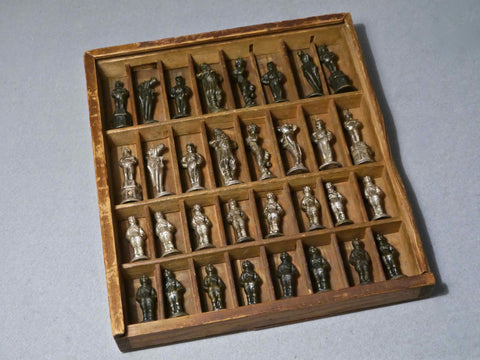 Danish Bronze Chess Set by Carl Hansen, 1875