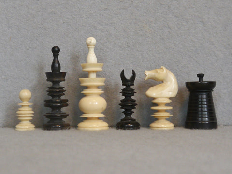 Indian Export Ivory Chess Set, 19th century