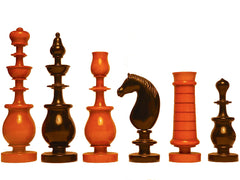 Interesting Continental Chess Set, 19th Century