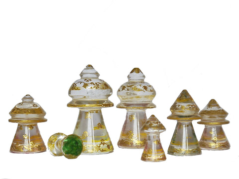 islamic muslim antique rock crystal chess set