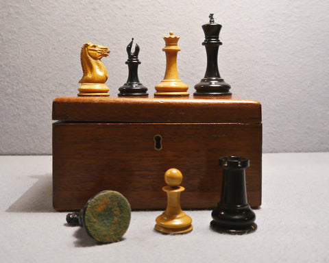 Early J. Jaques Staunton Chess Set, 1850