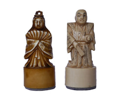 Japanese Figural Chess Set, Tientsin, 1930-39