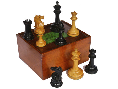 Jaques Staunton Boxwood Chess Set, 1870-75