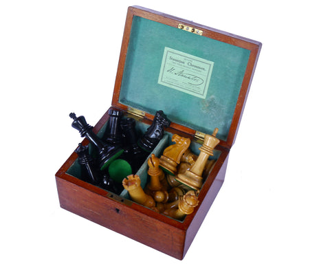 Antique Jaques Staunton Chess Set