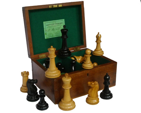 Antique Jaques Staunton Chess Set Four Inch