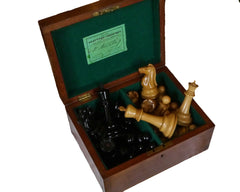 "Jaques ""Tournament"" Chess Set, c. 1937"