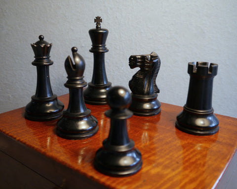 "Jaques Staunton ""Club Size"" Chess Set, 1920-25"