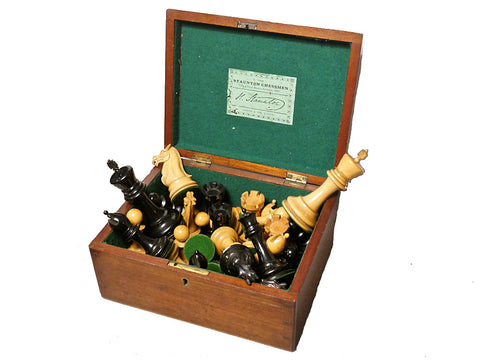 4 ½ Inch Jaques Staunton Chess Set, 1880-1900