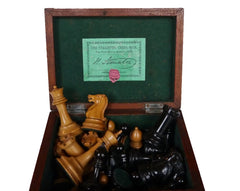 Jaques Staunton Boxwood Chess Set, 1865-70