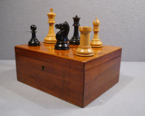 Jaques Staunton Chess Set, circa 1900-1915