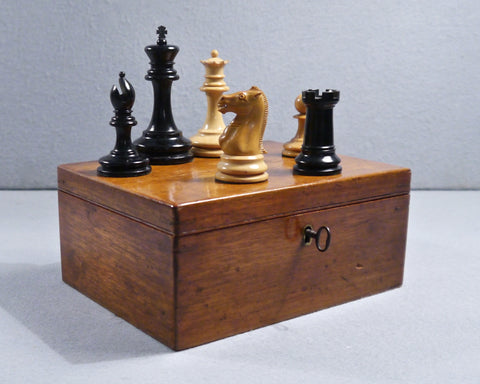 Jaques Staunton Weighted Chess Set, circa 1885