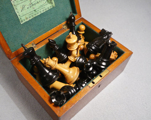 Jaques Staunton Boxwood Chess Set, circa 1890