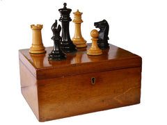 "Jaques Staunton 'Four Inch"" Chess Set"