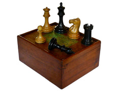 Jaques Staunton Boxwood Chess Set, circa 1885