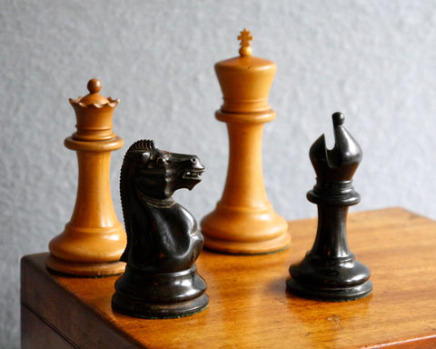 "Jaques ""Yellow Label"" Chess Set, 1856-9"