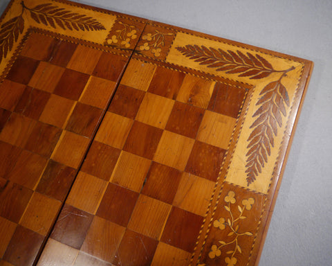 An Irish Killarney Chess & Backgammon Board
