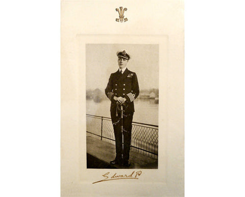 King Edward VIII: Signed Photograph, 1919