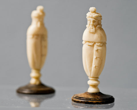 Two Russian Kholomogory Pawns, 18th century