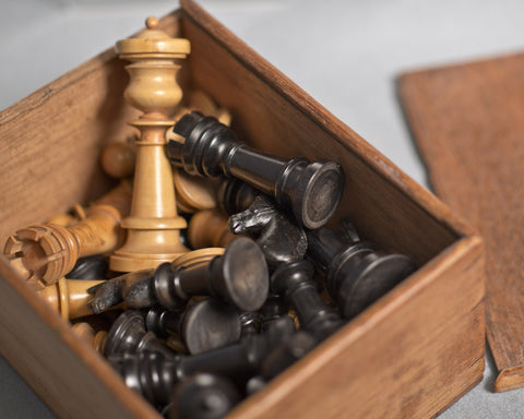 An Edinburgh Upright Chess Set, circa 1860