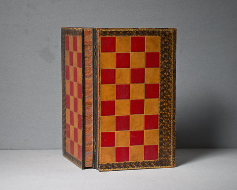 An English Leather Games Board, circa 1890