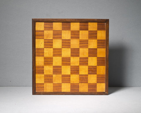 A Mahogany and Holly Chess Board, circa 1950