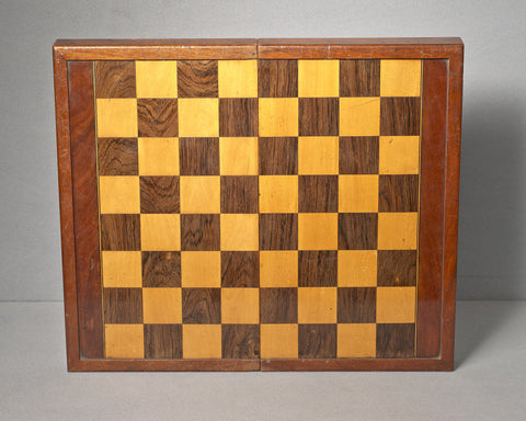 A Rosewood & Mahogany Games Board/Box