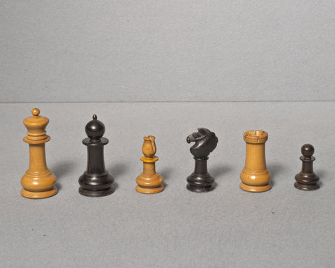 An Interesting Upright Chess Set, circa 1860