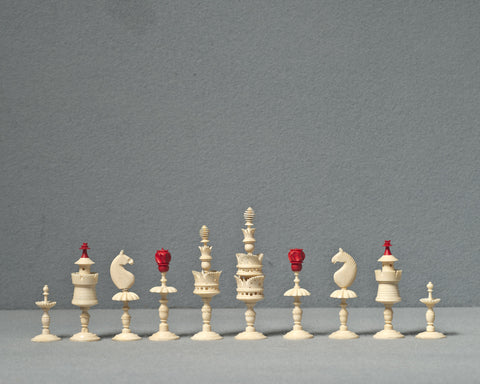 An Interesting German Chess Set, circa 1830