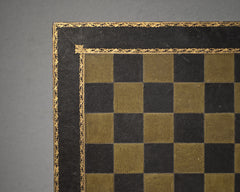 Antique Gilt-Tooled Leather Chess Board